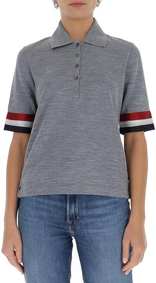 Thom Browne Striped Short Sleeve Top