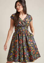 We're All Marvelous Here A-Line Dress in Fiesta in 2X - Cap Midi by Retrolicious from ModCloth