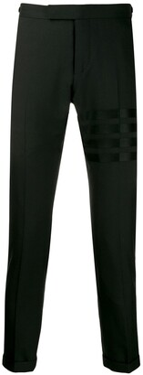 Thom Browne 4-Bar Low Rise Weave Suiting Trousers
