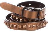 Burberry Studded Metallic Belt