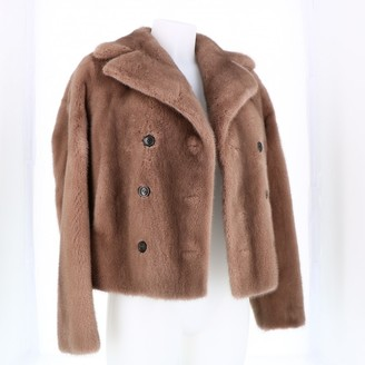 Christian Dior Beige Mink Coat for Women