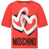 Moschino MoschinoGirl Red Graffiti Hearts Top