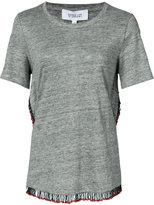 Derek Lam 10 Crosby fringed T-shirt - women - Linen/Flax - L