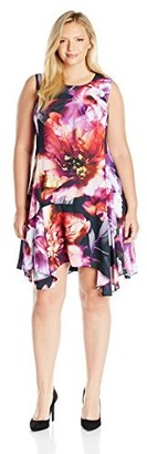 Julia Jordan Women's Plus Size Abstract Floral Dress