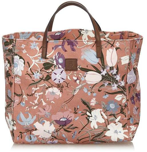 Gucci Vintage Floral Canvas Tote Bag