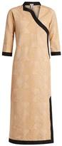 Loewe Asymmetric-front bi-colour midi dress