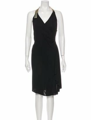 Celine V-Neck Mini Dress Black