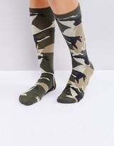Weekday Camo Print Socks