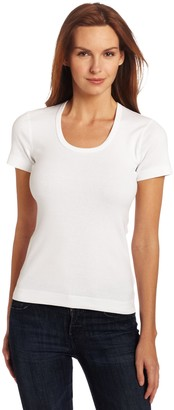 Three Dots Women's Short Sleeve Scoop Neck Tee