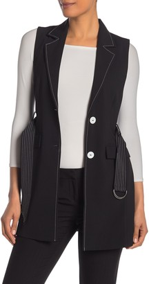 Laundry by Shelli Segal Longline Belted Vest