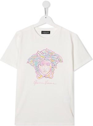 Versace TEEN Medusa motif T-shirt