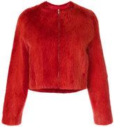 Liska Tweety zip up fur coat