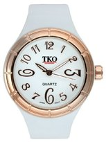 Murano TKO ORLOGI Women's TK530-WR Black and White Collection All Rubber White Glossy Watch