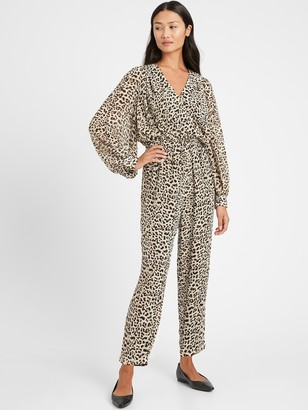 Banana Republic Print Balloon-Sleeve Jumpsuit