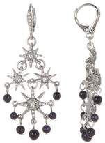Jenny Packham Glass Crystal Embellished Star with Beading Chandelier Earrings