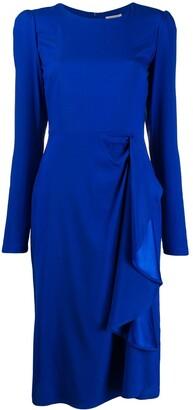 P.A.R.O.S.H. Draped Midi Dress