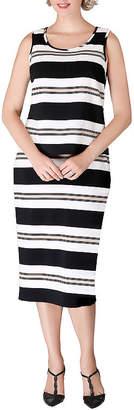 GIOVANNA SIGNATURE Giovanna Signature Striped Skirt Suit