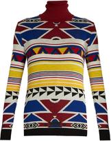 Stella Jean Significare geometric-intarsia wool sweater