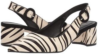 Pelle Moda Autumn 2 (Cream/Black Haircalf) Women's Shoes