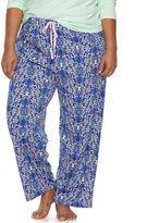 Jockey Plus Size Pajamas: Printed Pajama Pants