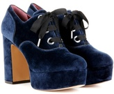 Marc Jacobs Velvet Platform Oxford Pumps