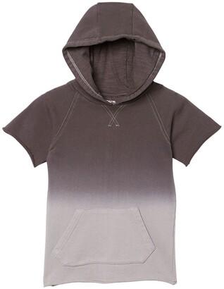 Hudson Reeve Ombre Short Sleeve Hoodie
