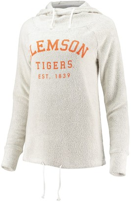Women's chicka-d Cream Clemson Tigers Looped French Cowl Hoodie