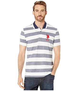 U.S. Polo Assn. Men's Slim Fit Marle Striped Pique Polo Shirt