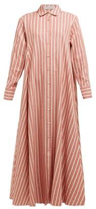 Palmer Harding Palmer//harding - Casablanca Striped Cotton-linen Poplin Shirtdress - Womens - Red Stripe