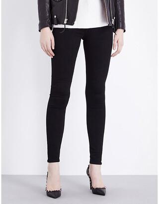 AG Jeans Women's Super Black The Farrah Skinny High-Rise Jeans, Size: 25