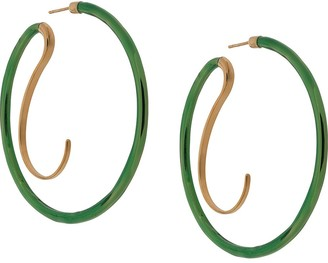Panconesi Abstract Curve Hooped Earrings