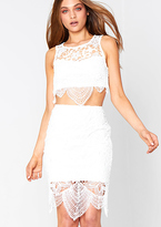 Missy Empire Niara White Lace Detail Co-Ord