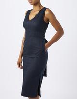 Monsoon Seema Linen Belted Dress