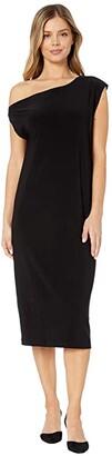 KAMALIKULTURE by Norma Kamali Drop Shoulder Dress (Black) Women's Dress