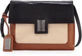 Badgley Mischka Janine Colorblock Leather Crossbody Bag, Black/Latte/Cognac
