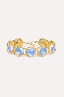 Larkspur & Hawk Olivia Button Gold-dipped Quartz Bracelet - one size
