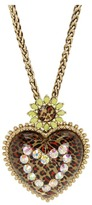Betsey Johnson Leopard Heart Long Pendant Necklace (Leopard) - Jewelry