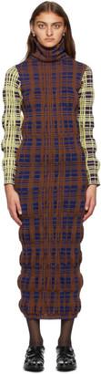 KIKO KOSTADINOV Brown Wool Tartan Dress