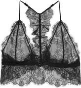 Anine Bing Lace Soft-cup Bra - Black