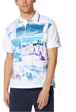 Nautica Men's Vintage-Fit Printed Polo Shirt