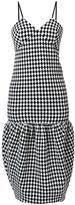 Victoria Beckham checked midi dress - women - Spandex/Elastane/Wool - 8