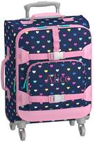 Pottery Barn Kids Mackenzie Hard Sided Navy Multicolor Heart Spinner Luggage
