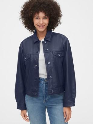 Gap Cropped Leather Icon Jacket