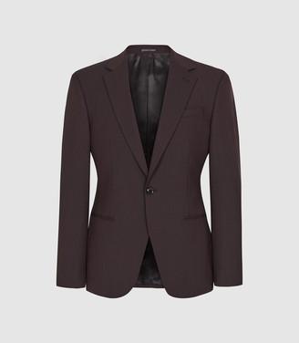 Reiss Malbec - Wool Blend Slim Fit Blazer in Plum