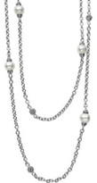 Lagos 'Luna' Double Strand Pearl Station Necklace