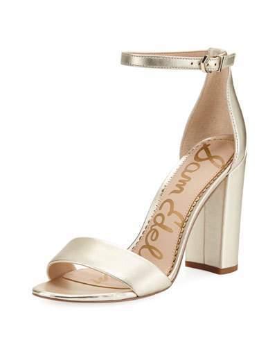 1ff59dd6d Sam Edelman Yaro Metallic Block-Heel Sandals