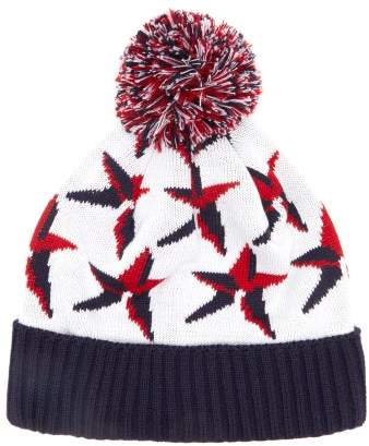 Perfect Moment Star-jacquard Wool-blend Beanie Hat - Womens - White