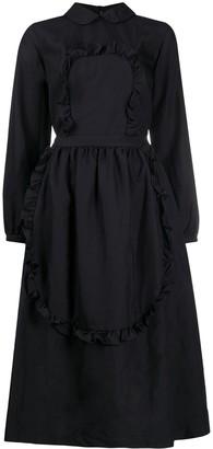 COMME DES GARÇONS GIRL Ruffle-Trimmed Midi Dress