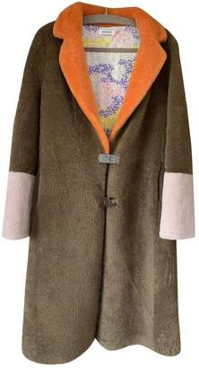 Saks Potts Brown Shearling Coat for Women