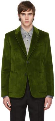 Ami Alexandre Mattiussi Green Two-Button Patch Pockets Blazer